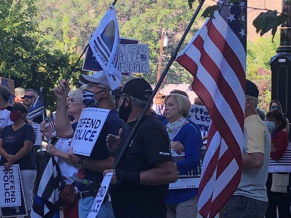 Pro-Police rally in Carson City
