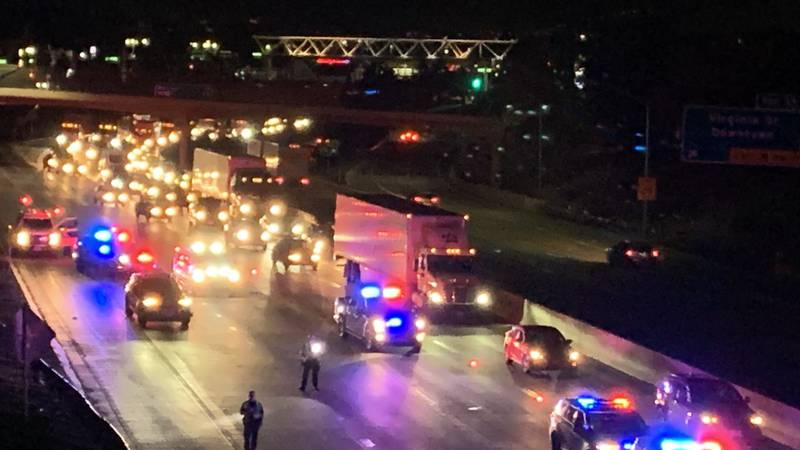 NHP investigates a fatal crash involving a pedestrian on I-80 near Virginia St.