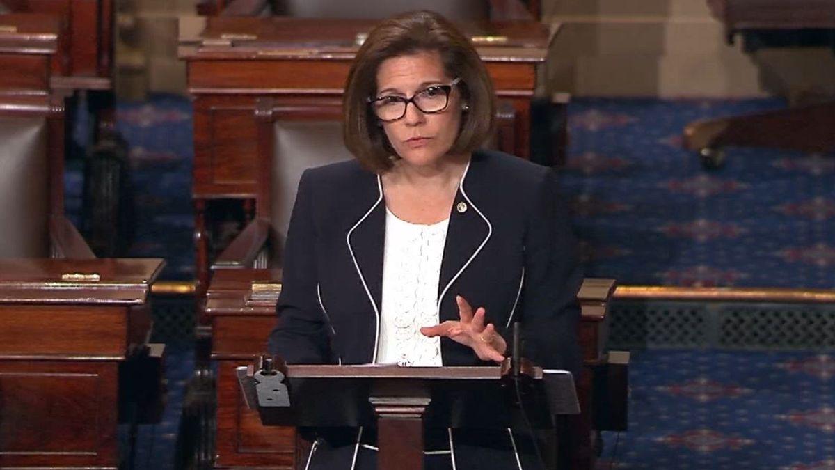 Nevada U.S. Sen Catherine Cortez Masto in a screenshot from a U.S. Senate video.