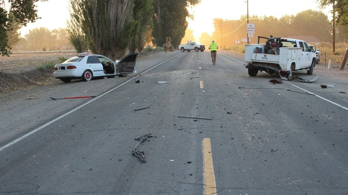 NHP investigates a fatal crash in Lyon County on Sept. 8, 2021.