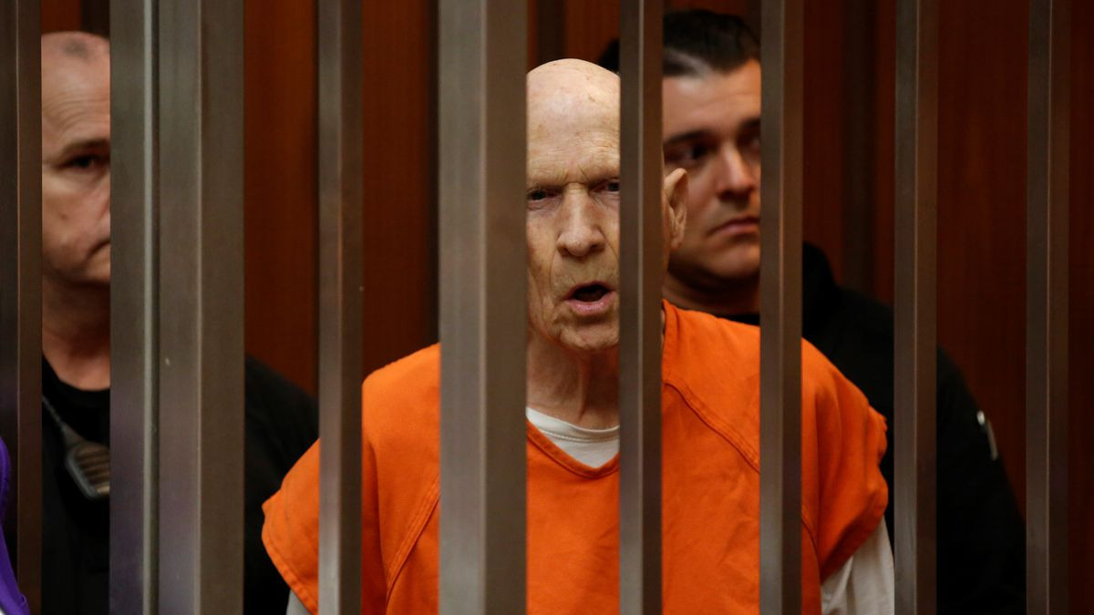 In this March 12, 2020, file photo, Joseph James DeAngelo, charged with being the Golden State...