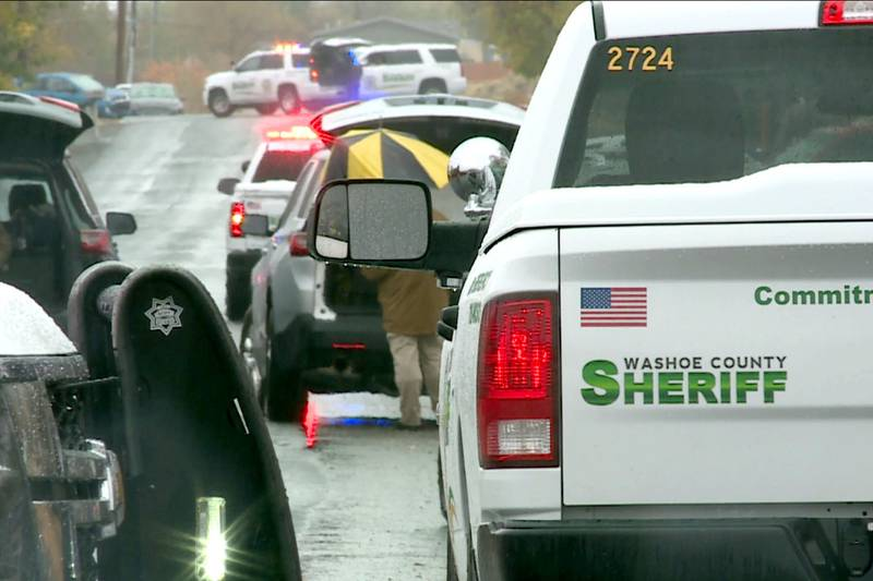 The scene of a standoff on Slope Drive in Sun Valley.