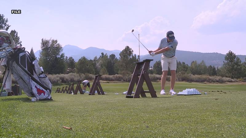 Ollie Osborne practices at his home course at Montreux. The 21-year-old is one of three...