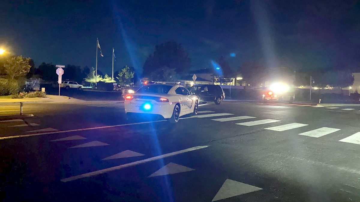 The scene of an accident on West Lincoln Way in Sparks. Photo by Bridget Chavez/KOLO.