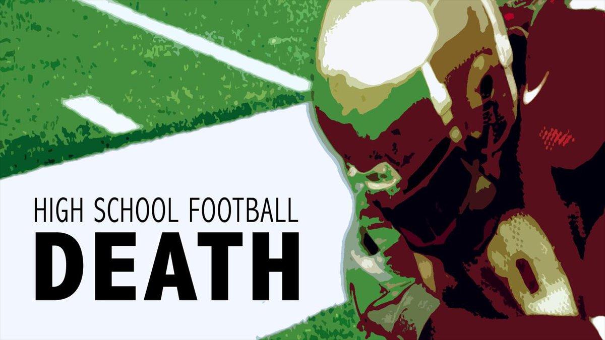 high school football death graphic