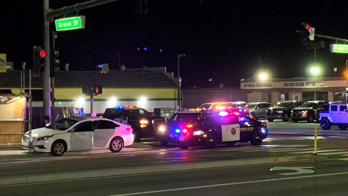 A woman was shot while in a car on S. Virginia Street in Reno on January 19, 2021.