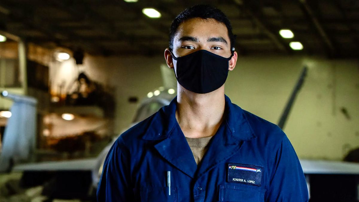 Xzavier Lopez, is a seaman in Deck Department on the USS Ronald Reagan.