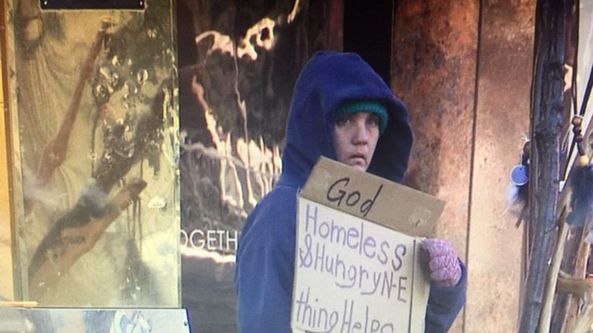 Homeless in downtown Reno