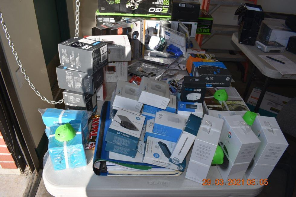 Stolen property from multiple thefts found in a motorhome in Carson City.