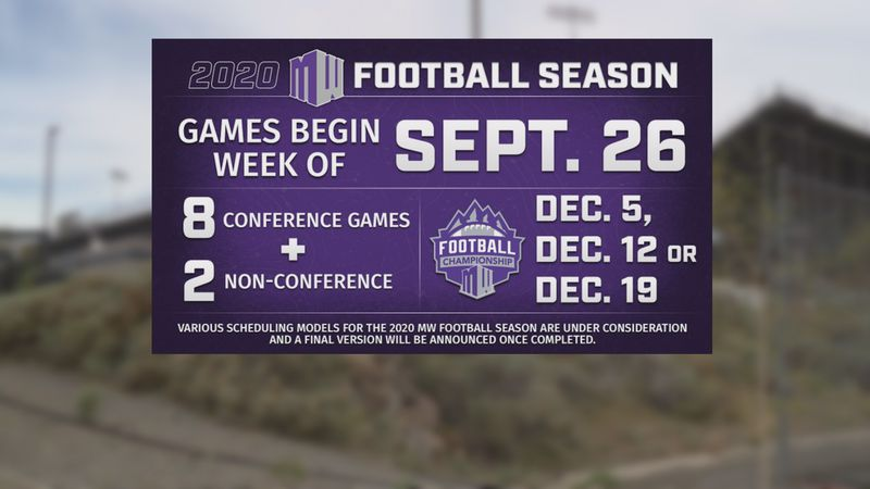 The Mountain West has pushed back the start of the fall sports season to at least September 26th.