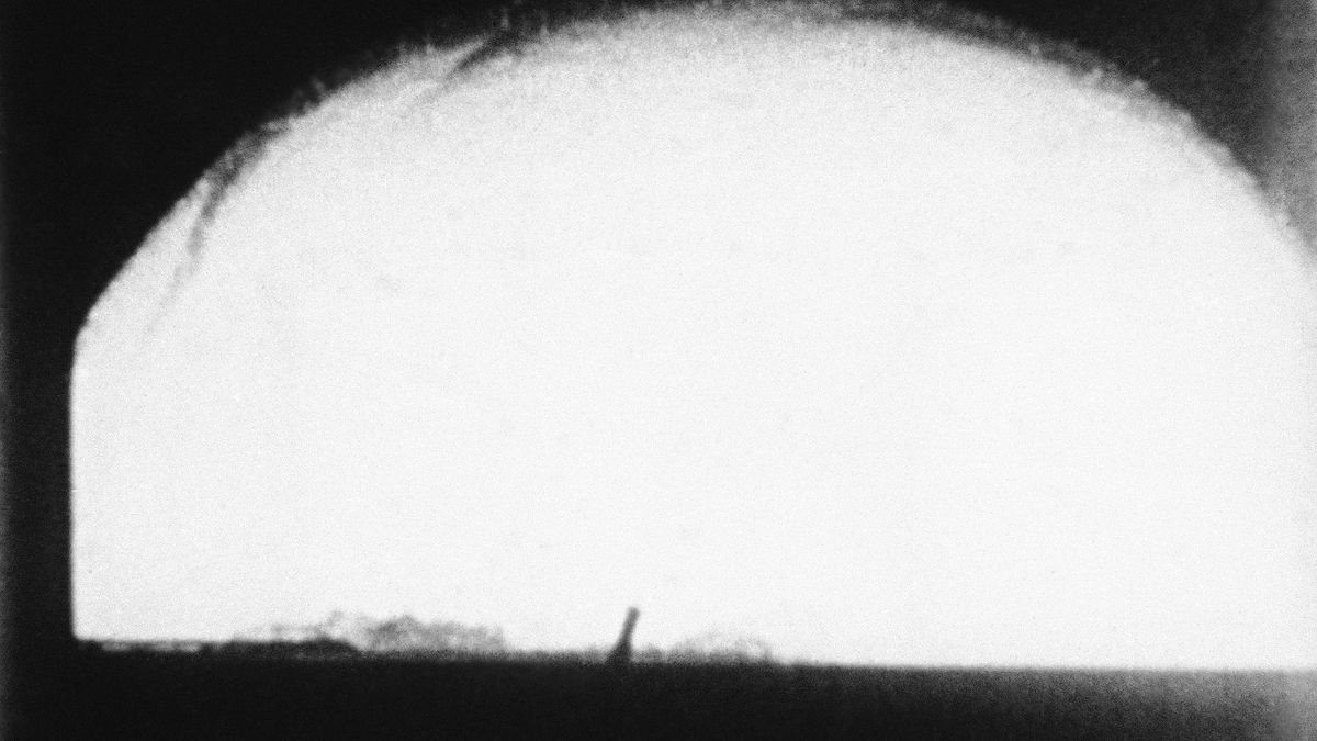 "This May 21, 1956, file photo shows the H-Bomb ""Cherokee"" over Bikini Atoll, Marshall Islands."