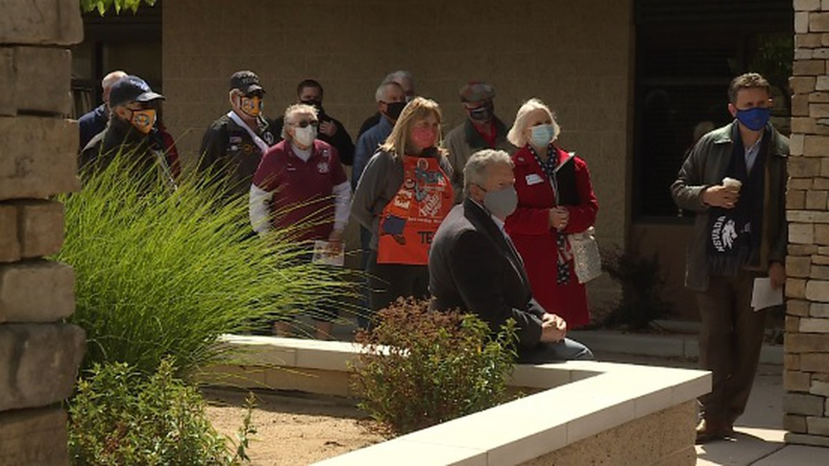 The dedication ceremony held Friday, May 21st at 3:00 p.m.