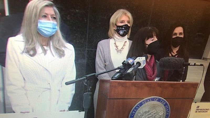 Assembly Republicans from left to right Lisa Krasner, Heidi Kasama, Dr. Robin Titus