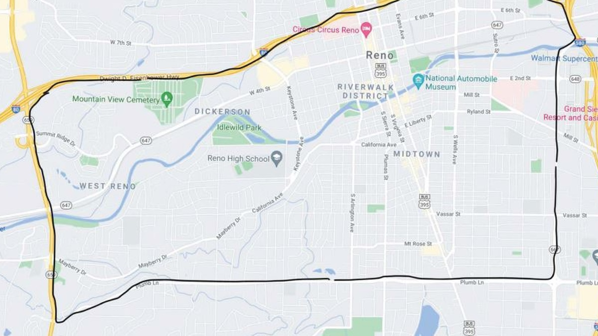 Above: Downtown Corridor where whips are unlawful.