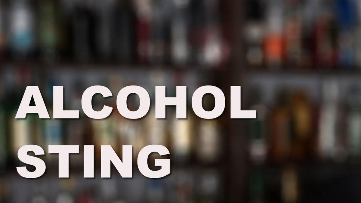 Alcohol sting graphic.