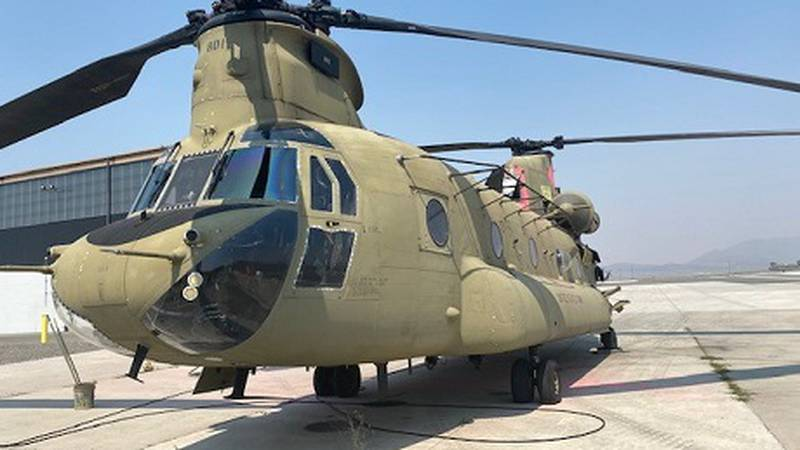 Nevada National Guard Chinook Helicopter