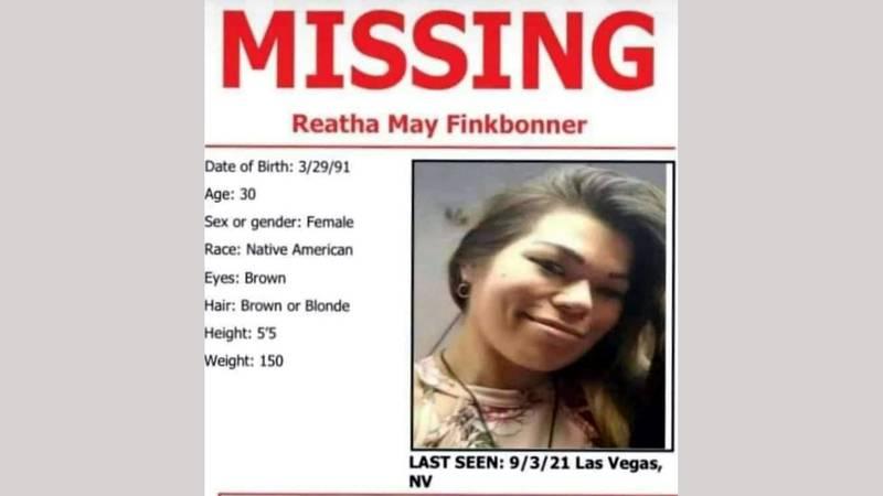 Reatha May Finkbonner missing flyer