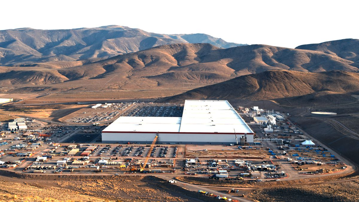 Tesla released this photograph of the Gigafactory exterior.