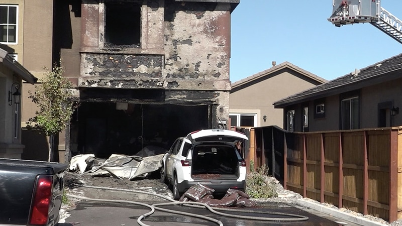 A fire damaged a home on Peppergrass Drive in Sparks.