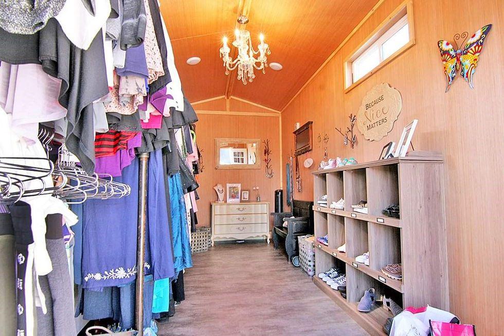 Lexie's Closet before the vandalism.