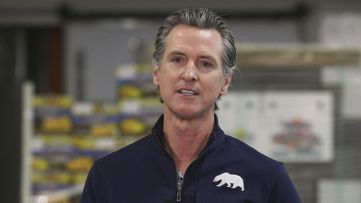In this Feb. 17, 2021, file photo, California Gov. Gavin Newsom speaks during a news conference...
