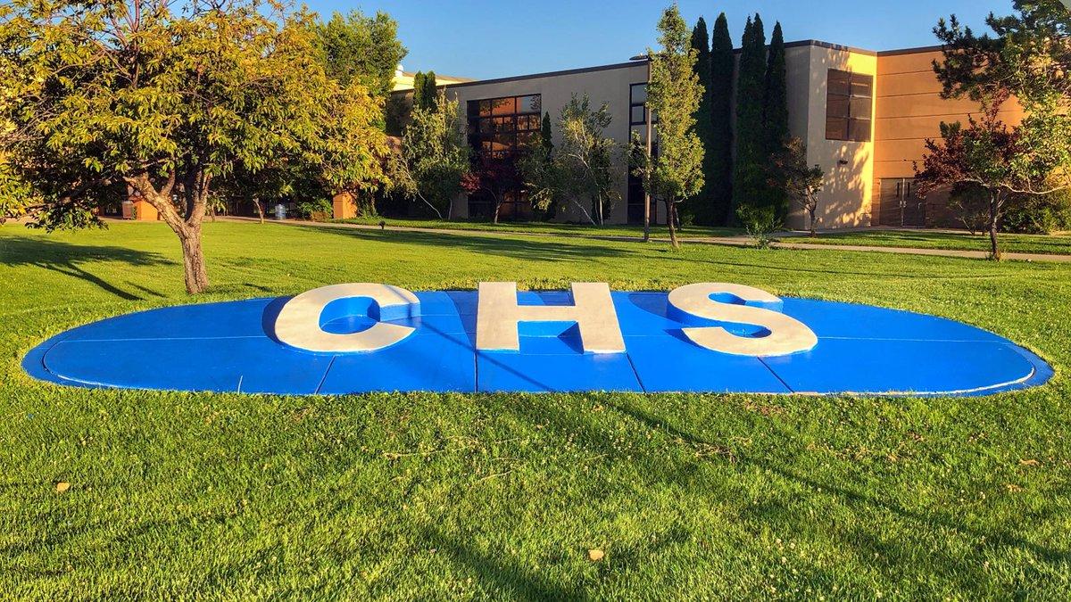 Carson High School CHS sign. Carson City School District photo.