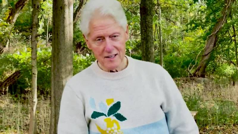 Former President Bill Clinton releases a video on Twitter thanking everyone for the well-wishes...