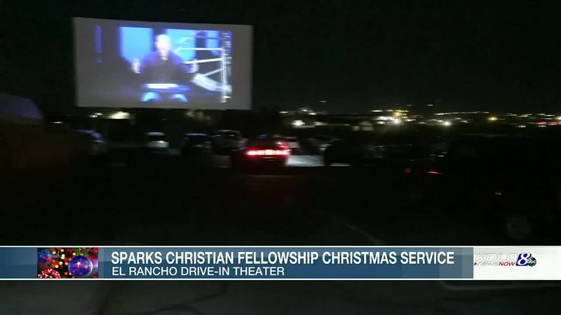 Sparks Christian Fellowship brought its Christmas service to the drive-in