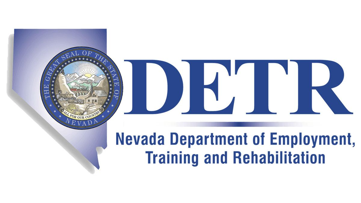 Nevada Department of Employment, Training and Rehabilitation logo (DETR).