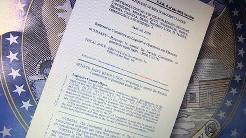SJR 8 the Equal Rights Amendment presented to Nevada Legislature
