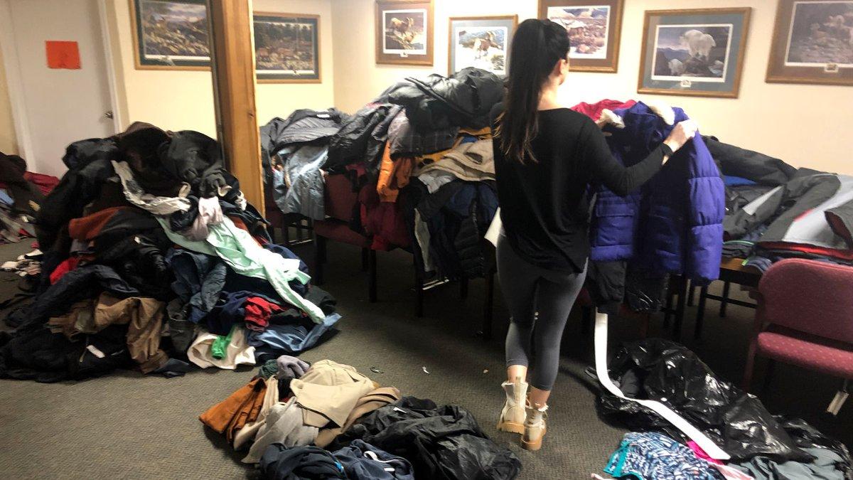 Coats donated to the Big Reno Coat Drive. Photo by Gianna Giorgi.