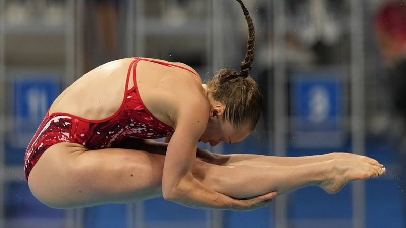 Krysta Palmer of the United States' competes in women's diving 3m springboard semifinal at the...