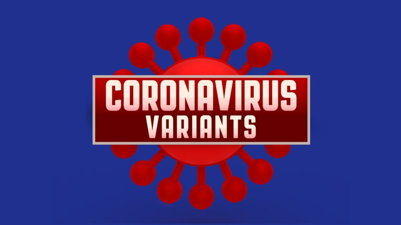 Coronavirus variants graphic.