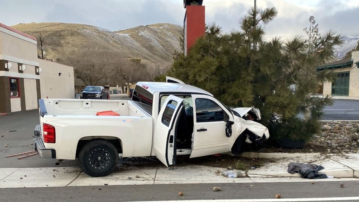 The Carson City Sheriff's Office released this crash scene photograph.