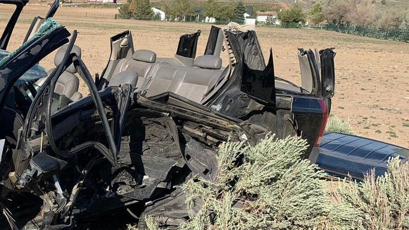 A crash on the Pyramid Highway about a mile north of Axe Handle Canyon Road.