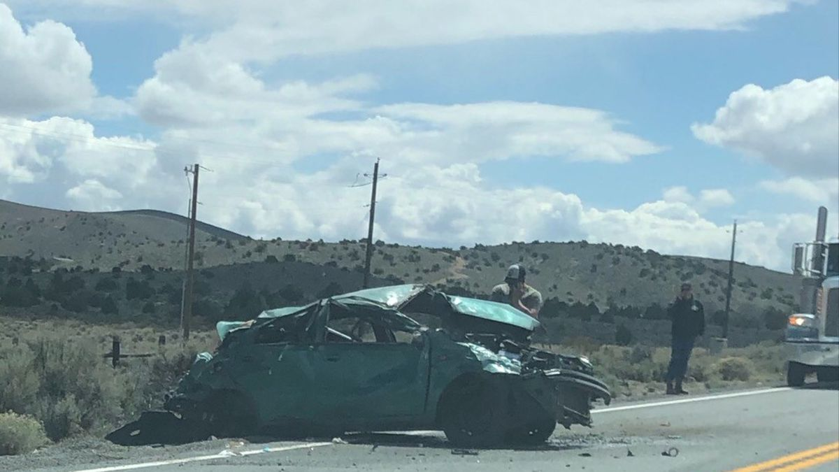 A fatal rollover shut down both directions of Pyramid Hwy. at Axe Handle Canyon Rd. Wednesday,...