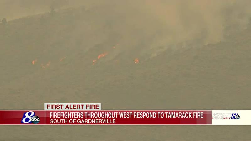 Tamarack fire burning south of Gardnerville