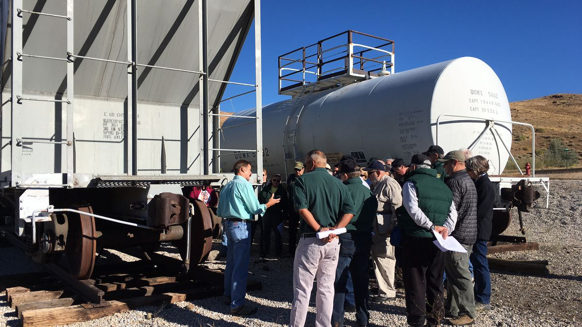 The Washoe County Sheriff's Office provided training to the new Rail Auxiliary Team, or RAT...