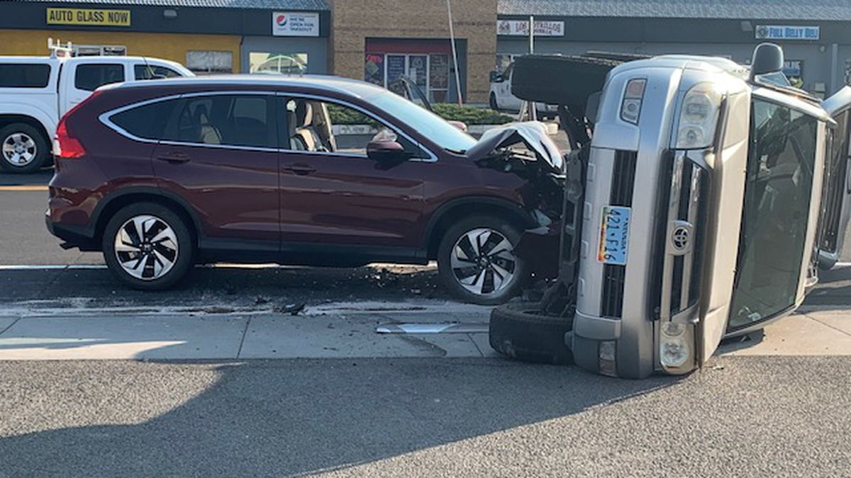 Rollover crash on Mill Street near Bible Way