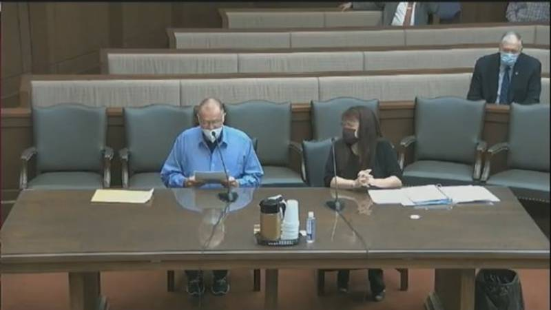 Fred Stites, convicted in the Officer James Hoff murder, addresses the NV Board of Pardons.