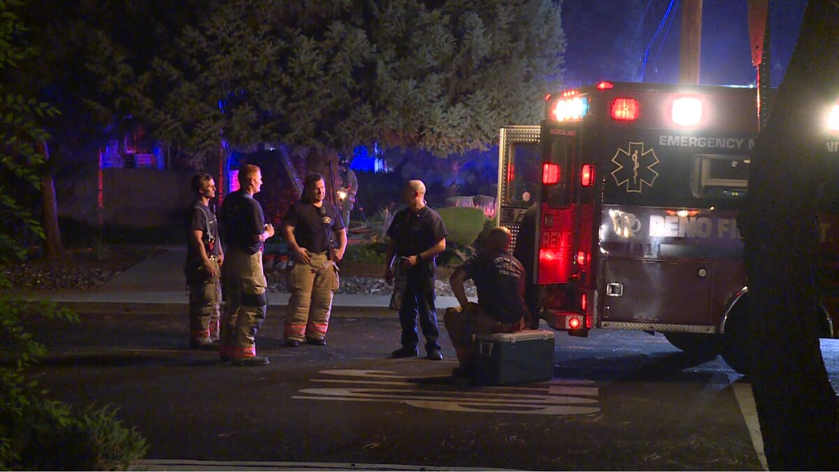 Reno fire crews respond to the Saturday night fire in West Reno