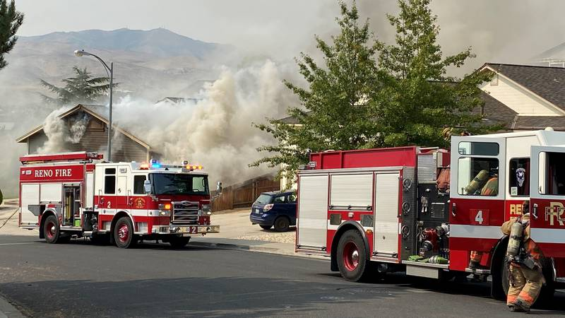Reno Fire crews responded to a house fire on University Park Loop.