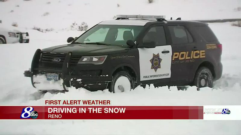 Reno Police share common mistakes people make when driving in the snow.