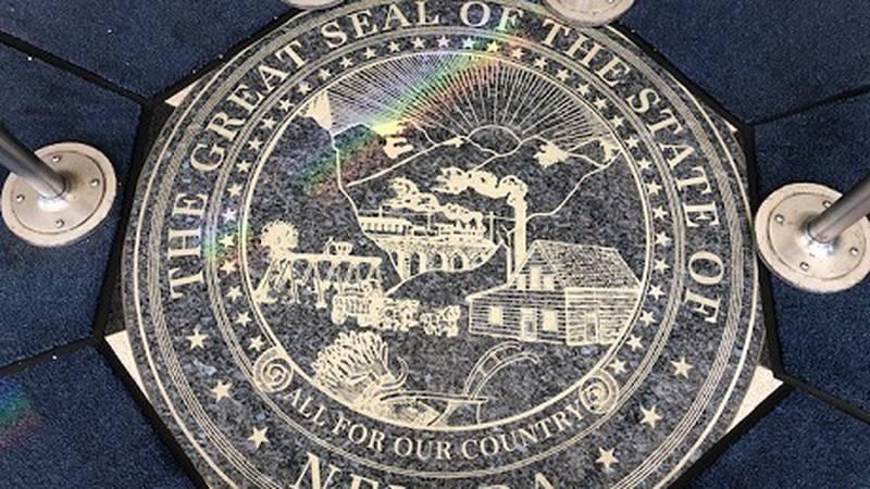 Seal of Nevada located at legislative building Carson City