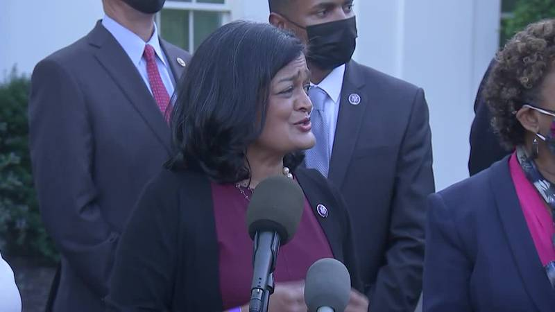 """Rep. Pramila Jayapal, D-Wash., said the price impact for this package is """"a tiny piece of GDP""""..."""