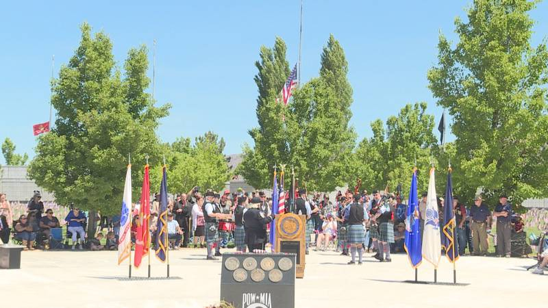Hundreds were in attendance for Monday's ceremony in Fernley