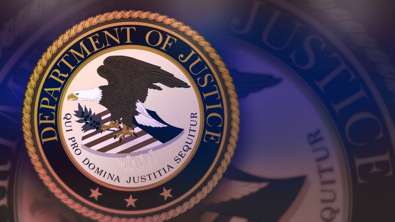 The seal of the U.S. Department of Justice.
