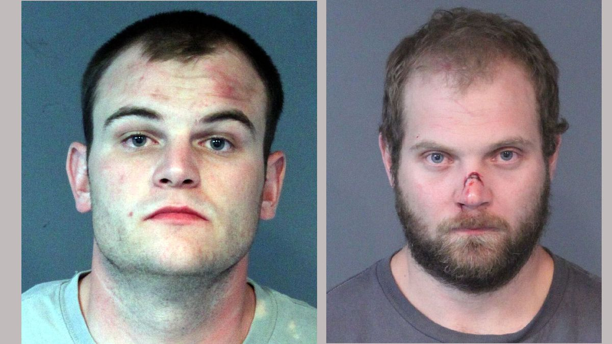 Justin Kent Freund, 27, left, and Matthew Sredy, 27. Washoe County Jail booking photographs.