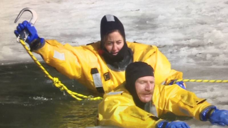 TMFD firefighters train for ice rescues at Galena Creek Park