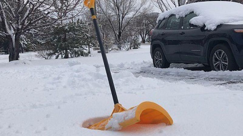 shovel in snow